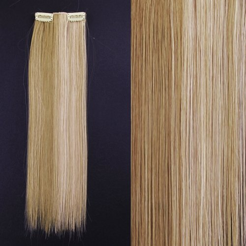 """Preisvergleich Produktbild 8x 20"""" Clip in Extensions Haarverlängerung #27/613 - Blonde Strähnchen"""