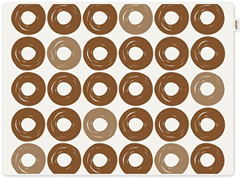 contento 655526 Jay Set de Table Motif Anneaux Plastique Marron 40 x 30 x 0,1 cm