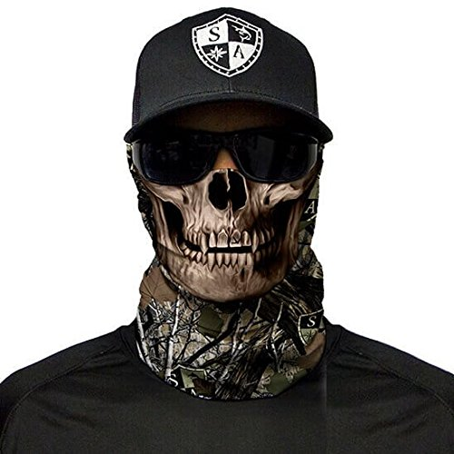 SA Company Herren Face Shield Forest Camo Dregs Skull