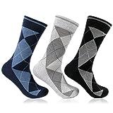 Mens Multicolor Formal Argyle Socks Pack of 3 from Bonjour _BR03803A-P03
