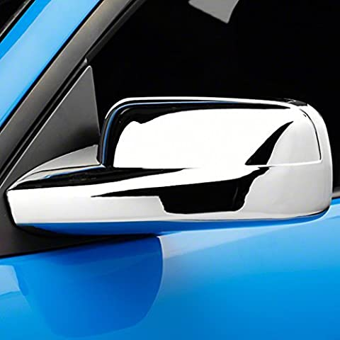 E-Autogrilles Triple Chrome Plated ABS Mirror Covers for 05-09 Ford Mustang (65-0302) by E-Autogrilles