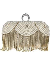 KAXIDY Sac a Main de Soiree Pochette Soirée de Mariage Perles d'imitation en Cristal Sacs Pochette pour Femme