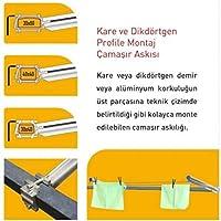 Pakas Kare Profil İçin Balkon Çamaşır Askılığı