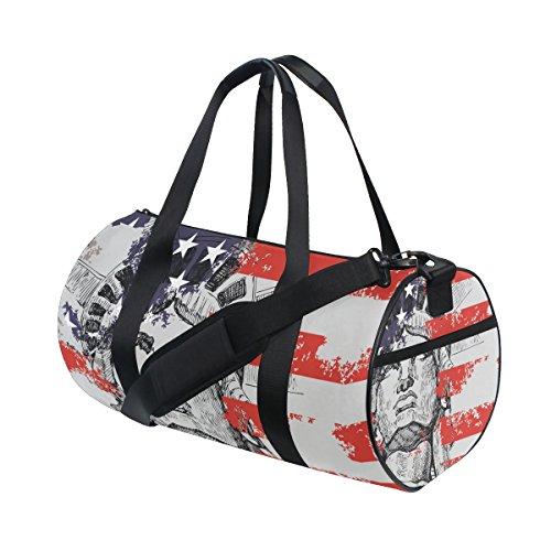 COOSUN Freiheitsstatue Duffle Tasche Schulter Handy-Sport Gym-Taschen für Männer und Frauen Mittel Mehrfarben