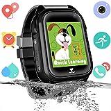 Bambini Smartwatch Impermeabile con GPS Tracker, Touch screen HD Orologio Telefono con Localizzatore GPS Chat Vocale SOS Gioco Sveglia da Polso Regalo Ragazzi Ragazze Compatibile con iOS Android