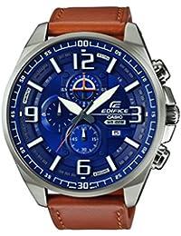 Casio Edifice – Herren-Armbanduhr mit Analog-Display und Echtlederarmband – EFR-555L-2AVUEF