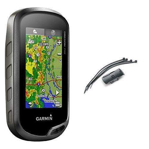 Garmin Oregon 700 GPS-Handgerät - integriertes WLAN, Aktivitätsprofile, Geocaching Live & Garmin Fahrrad-/ Golfcarthalterung