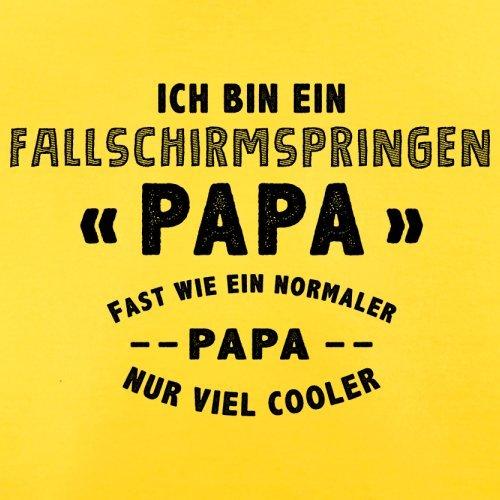Ich bin ein Fallschirmspringen Papa - Herren T-Shirt - 13 Farben Gelb