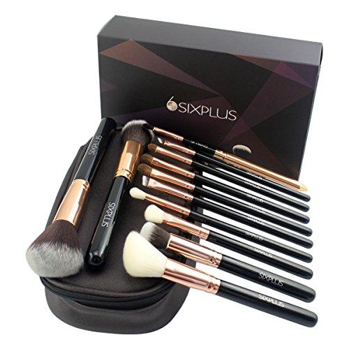 sixplus-12-teiliges-make-up-pinsel-set-in-schwarz-mit-einem-multifunktionalen-make-up-etui