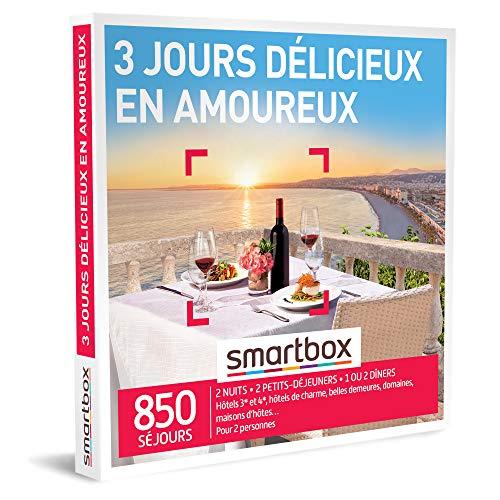 SMARTBOX - Coffret Cadeau Noël Couple - Idée cadeau original : Séjour de 3 jours...