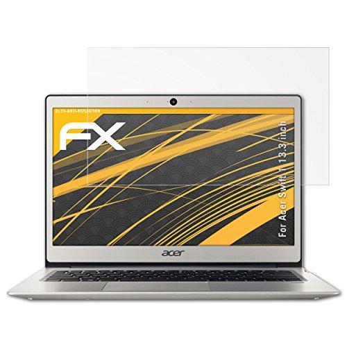 atFolix Panzerfolie kompatibel mit Acer Swift 1 13.3 inch Schutzfolie, entspiegelnde & stoßdämpfende FX Folie (2X)
