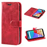 Mulbess Xiaomi Mi A2 Lite Case Wallet, Leather Flip Phone