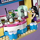 LEGO 41366 Friends Olivia's Cupcake Café Playset, Olivia and Emma mini-dolls Toy Scooter and Accessories, Fun Set for Kids