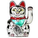 UOOOM Glückskatze Winkekatze Glücksbringer Chinesische Glücks Katze Fengshui Deko Figur Dekoartikel Höhe 5