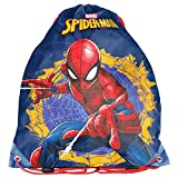 Kinder Turnbeutel/SPORTBEUTEL 36x32 cm - Marvel Spider-Man - BLAU/ROT/BUNT