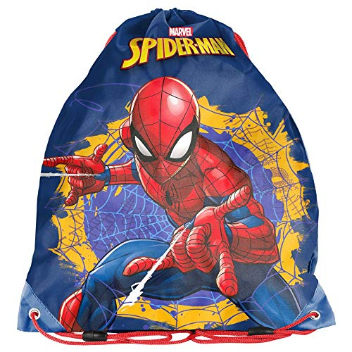 Kinder Turnbeutel/SPORTBEUTEL 36x32 cm - Marvel Spider-Man - - Spidermans Kostüm