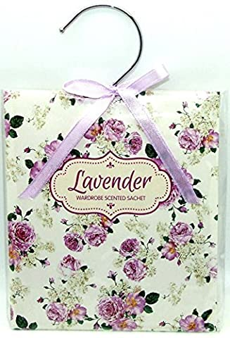 Scented Wardrobe Hanger - Scented Sachet in - Lavender