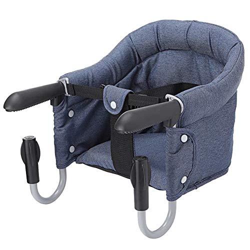 Schnelle Tisch Stuhl, Portable Fold-Wohnung Clip Auf Tisch Hochstuhl, Abnehmbarer Sitz,Navy ()