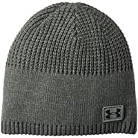 Under Armour, Men'S Golf Knit Beanie, Berretto, Uomo, Grigio (Rhino Gray/Nero), Taglia Unica