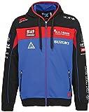 SUZUKI BSB Team Hoodie Jacke Kapuzen Sweatshirt ZIPPER blau rot (M)