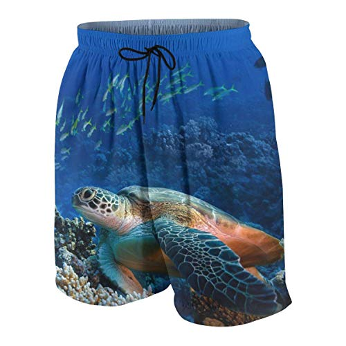Pillow Socks Giant Sea Turtles Boys Beach Shorts Quick Dry Beach Swim Trunks Kids Swimsuit Beach Shorts,Active Athletic Performance Shorts S