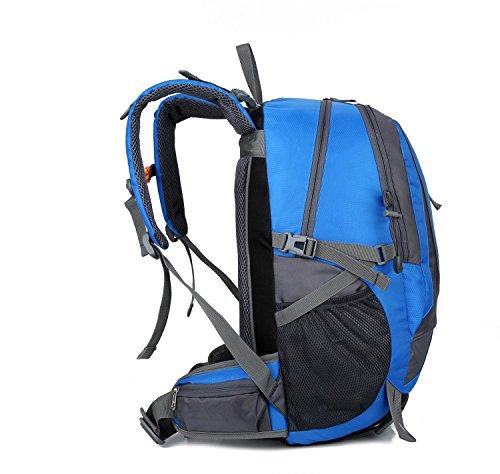 HWJF outdoor - paket camping professionelle bergsteiger freizeit rucksack zwei computer - tasche Blue