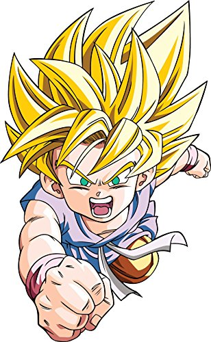 Stickersnews - Sticker enfant Manga Dragon Ball Z DBZ 15120 Hauteur - Hauteur 20cm