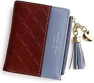 Wallet for Women Leather Short Wallet Bifold, RFID Blocking Wallet Credit Card Holder Organizer with Zipper Po