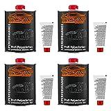 TRISTARcolor 4 Liter Polyesterharz & Härter für Auto Boot Wohnmobil Modellbau laminieren