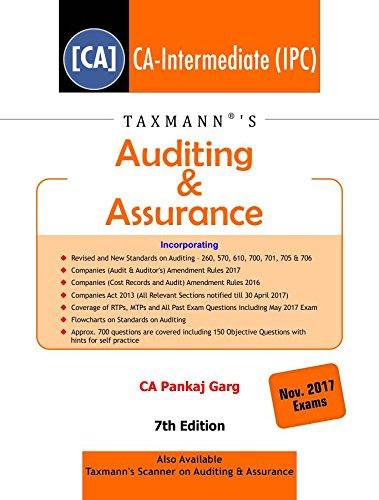 Auditing & Assurance - CA-Intermediate (IPC)- (November 2017 Exams)