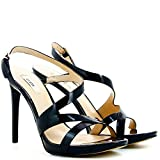 Guess Damen schuhe sandelholz Heel cm 11 Casiel Sandal Patent Plat.cm 1 Leather Black,39