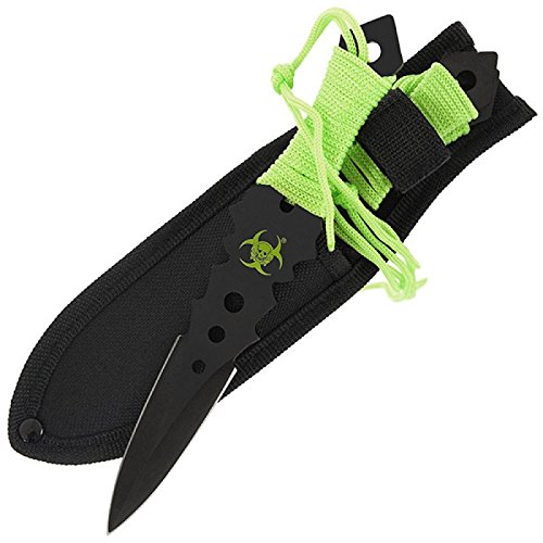 3er Set Zombie Wurfmesser Kunai Throwing Knife Ninja Paracord 872 (Wurfmesser Paracord)