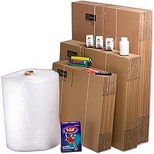 TELECAJAS Pack Mudanza (Cajas de cartón, plástico Burbujas, precinto, etc) con