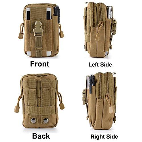 Erasky® Erasky Taktische Hüfttaschen Gürteltasche MOLLE EDC für Outdoorsport Multifunktionen Praktische Ausrüstung (Schwarz) ACU
