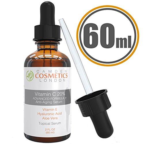 Camden Cosmetics - 2oz (60ml) Serum de vitamina C para la cara + ácido...