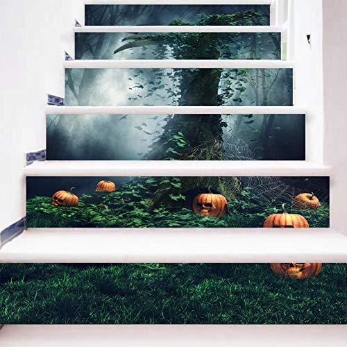 eber 6 Stück Halloween DIY Nacht Wald Stereo Wandaufkleber 3D Abnehmbare wasserdichte Schlafzimmer Wohnzimmer Wandaufkleber 18 * 100cm ()