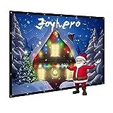 Joyhero 120 Zoll / 263 x 148 cm | Format 16:9 Projektor Leinwand, Beamer Leinwand, 3D/4D Leinwand
