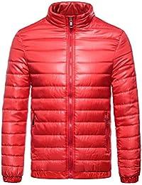 Vertvie Homme Veste Doudoune Sport Col Montant Manteau Parka Rembourré  Blouson Jacket MatelasséeZippée Manche ... 4feabad73c6