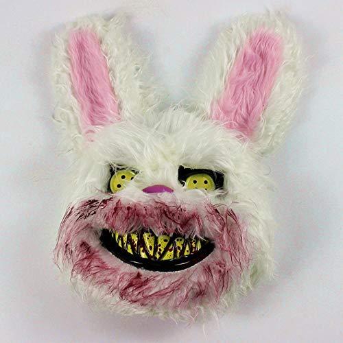 Einhorn Blutigen Kostüm - DWcamellia Masken für Erwachsene für Horrorparty, Scherz, blutige Hasenmaske, Halloween Kostüm Maske