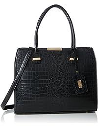 London G1702, Womens Shoulder Bag, Black, 13x28,5x25,5 cm (B x H T) LYDC London
