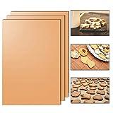 Backmatte 33 x 40cm wiederverwendbare hitzebeständiger Backpapier Ersatz mit Antihaftbeschichtung (3er Pack)