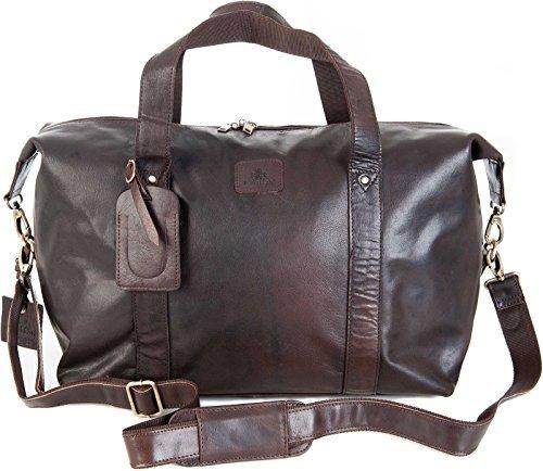 qualité hommes Rowallan Grand cuir brun fourre-tout DE VOYAGE FOURRE-TOUT bandoulière 8889