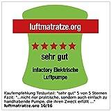 infactory Luftpumpe Luftmatratze: Elektrische Luftpumpe für schnelles Auf- & Abpumpen, 230V Euro-Stecker (Elektrische Pumpe für Luftmatratze) -