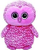 TY 36608 - Pinky X-Large - Eule mit Glitzeraugen, Glubschi's, Beanie Boo's, 42 cm, pink