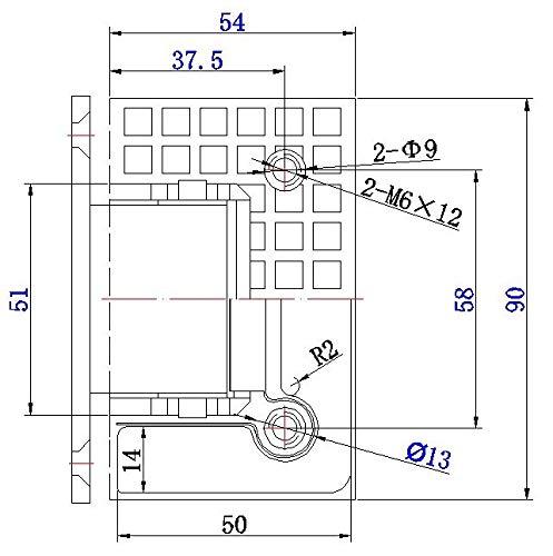 51 L%2Bfh7vTL - Juego de 2 bisagras de puerta de vidrio NUZAMAS, soportes, bisagra de la puerta de la ducha Montado en la pared Panel de vidrio de 8-12 mm adecuado, 80-100cm Puerta, 90 grados de cierre y apertura