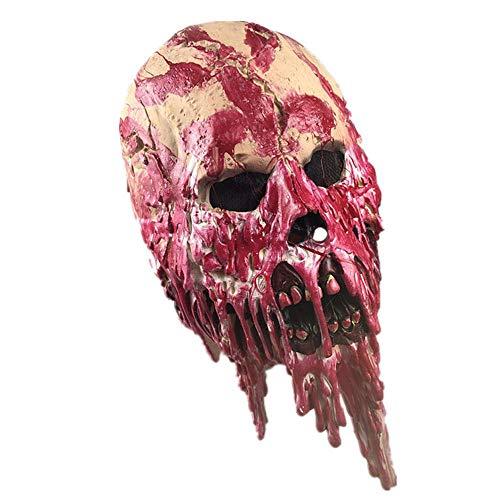 Cráneo Esqueleto máscara, 100% látex Natural Hecho a Mano Monstruo máscara Traje Traje Fiesta Halloween