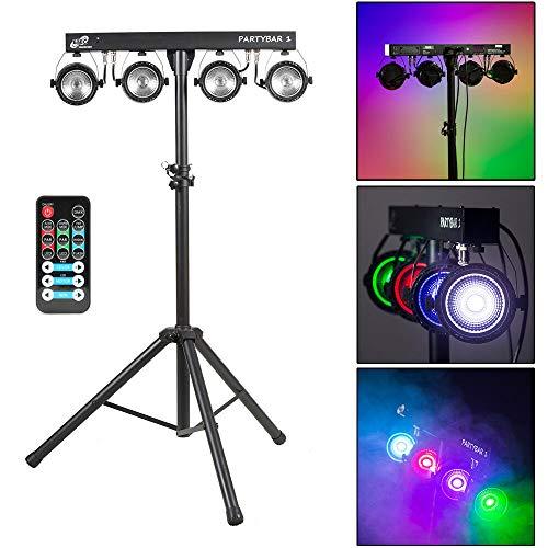 ETEC LED PARTYBAR 1 COB PAR Scheinwerfer RGB 3in1 Disco mit Stativ Fernbedienung