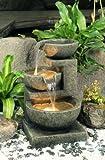 Fontana Tre Conche Di Granito con luci