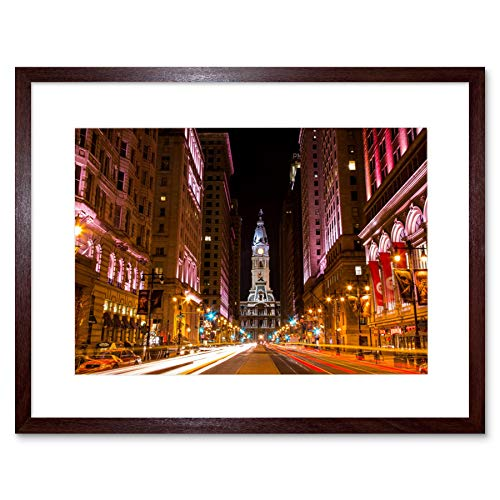 PHOTO CITYSCAPE CITY HALL PHILADELPHIA PA FRAMED ART PRINT POSTER F12X10356 -