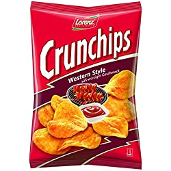 Lorenz Snack World Crunchips Western Style, 4er Pack (4 x 175 g)